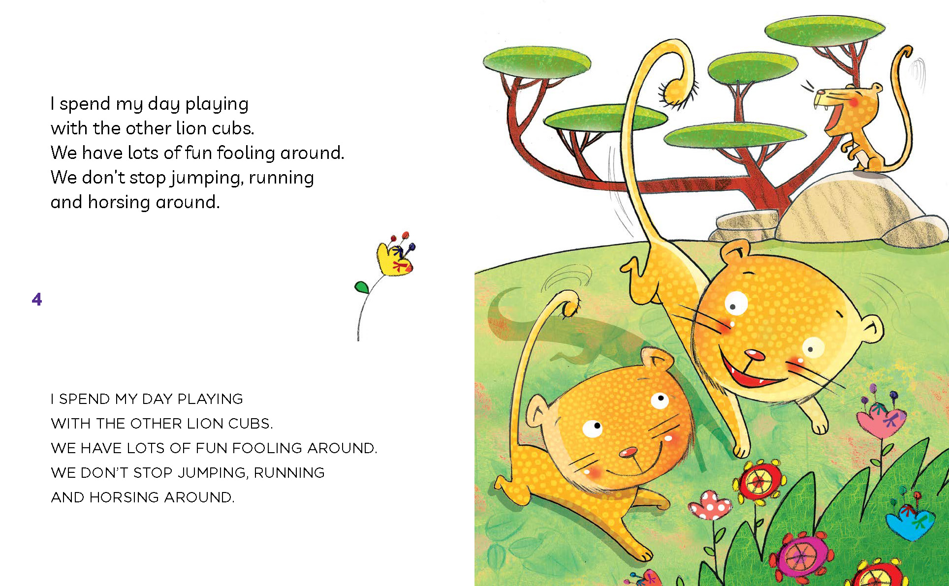 simba lion, lions, animals, jungle, children books, learn to read, capital letters, lower case, 5 year olds, kids books,