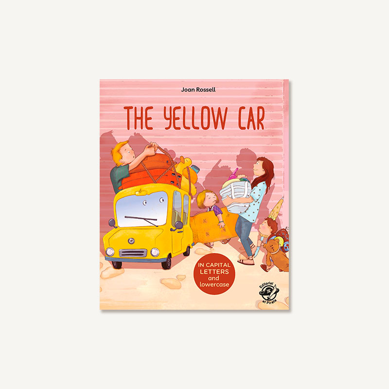 yellow car, children books, learn to read, capital letters, lower case, 5 year olds, kids books,
